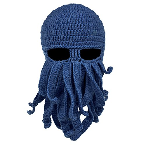 Vbiger Windproof Warm Knitted Beanie Hat Cap, One Size, - Shapes Face For Beards