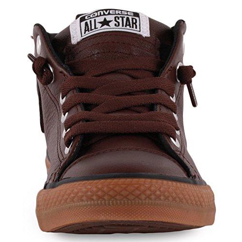 Converse Chuck Taylor All Star Street Mid - Zapatillas para niños Chocolate