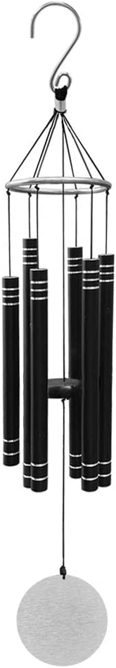 """OCACA Wind Chimes for Home, 34"""" Deep Tone Wind Chime with Musically Tuned Tubes, Elegant Memorial Sympathy Gift for Family & Friends, Best Decoration in Garden, Patio, Yard, Outdoor (Matte Black)"""
