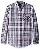 Burnside Men's Crushin It Long Sleeve Button Down Woven Shirt, Greyish, XLarge