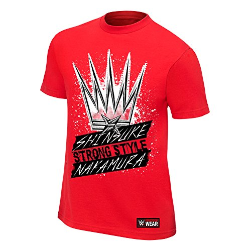 WWE Shinsuke Nakamura King of Strong Style Youth Authentic T-Shirt Red Large by WWE Authentic Wear