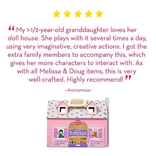 Melissa Doug Fold Go Mini Dollhouse Portable Wooden