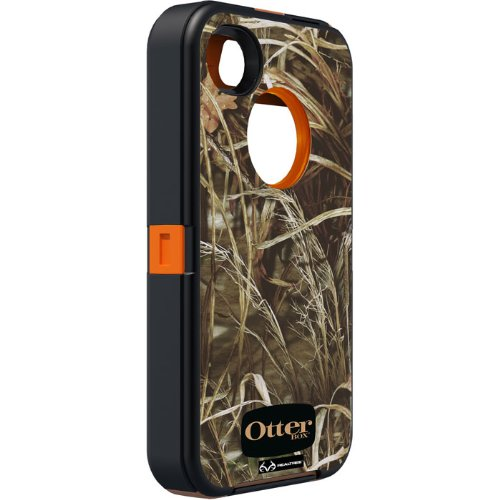 OtterBox Defender Series Case and Holster for iPhone 4/4S  - Retail Packaging - Realtree Camo - Max 4HD Orange by OtterBox