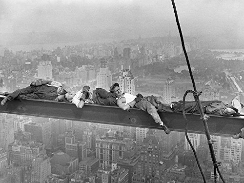 Great Art Now Construction Workers Resting on Steel Beam Above Manhattan, 1932 Art Print, 36 x 27 inches - Above Manhattan Poster