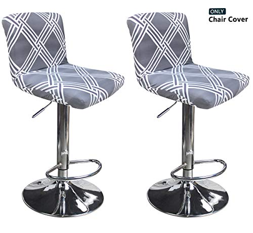 Deisy Dee Dining Room Chair Covers,Bar Stool Covers,Barstool Chair Slipcovers Pack of 2 C176 (H)