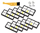HEPA Filter for iRobot Roomba 800 900 Series 805 860 870 880 960 980 Vacuum Cleaner Replacement Accessories 10 pcs - Free fliter Cleaning Brush and Screws by Lunies