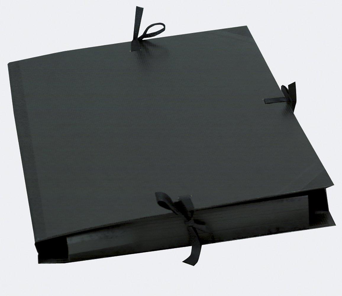 Exacompta 548000E Zeichenmappe mit Gummizug f/ür format Din A3 schwarz 32 x 45 cm Kraft