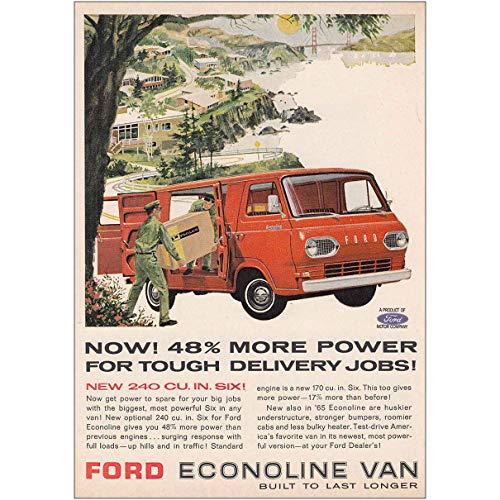 - RelicPaper 1965 Ford Econoline Van: 240 CU, Ford Print Ad