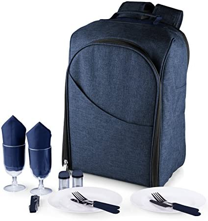 Picnic Time PT-Colorado Insulated Backpack Cooler, Navy
