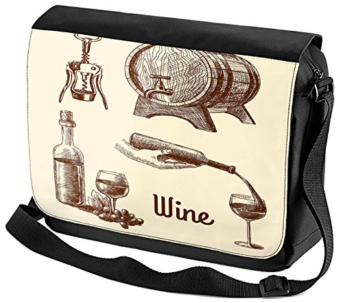 Umhänge Schulter Tasche Bar Party Wein bedruckt