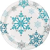 Snowflake Swirls Dessert Plates, 24 ct