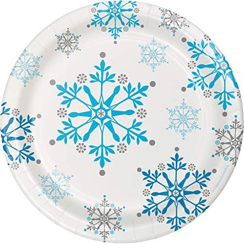 Snowflake Swirls Dessert Plates, 24 ct -
