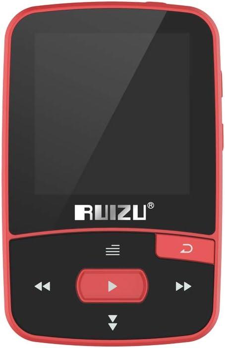 Docooler RUIZU X50 8GB 1.5in Reproductor de MP3 HiFi Sin pérdida Calidad de Sonido BT Podómetro Tarjeta TF Radio FM Grabación Libro electrónico Calendario