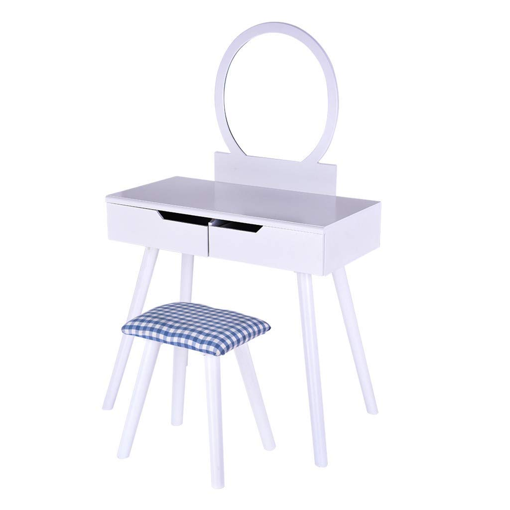 Furniture White Wooden Vanity, Make Up Table and Stool Set