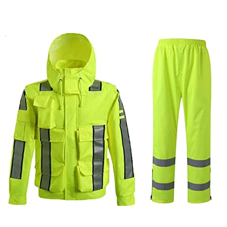 OLLVU Impermeable Dividido Impermeable Masculino Exterior ...