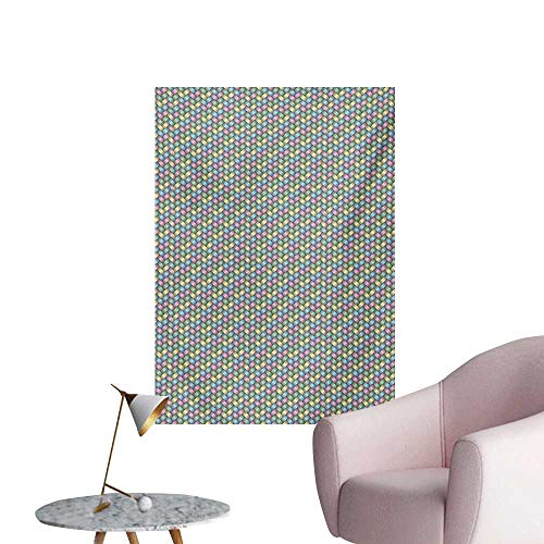 - Anzhutwelve Abstract Wall Paper Woven Soft Colored Geometric Stripes Crisscross Pattern Ornate Traditional DesignMulticolor W20 xL28 The Office Poster