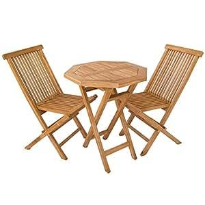 Edenjardi conjuntos muebles para terraza en teca portes for Amazon muebles terraza