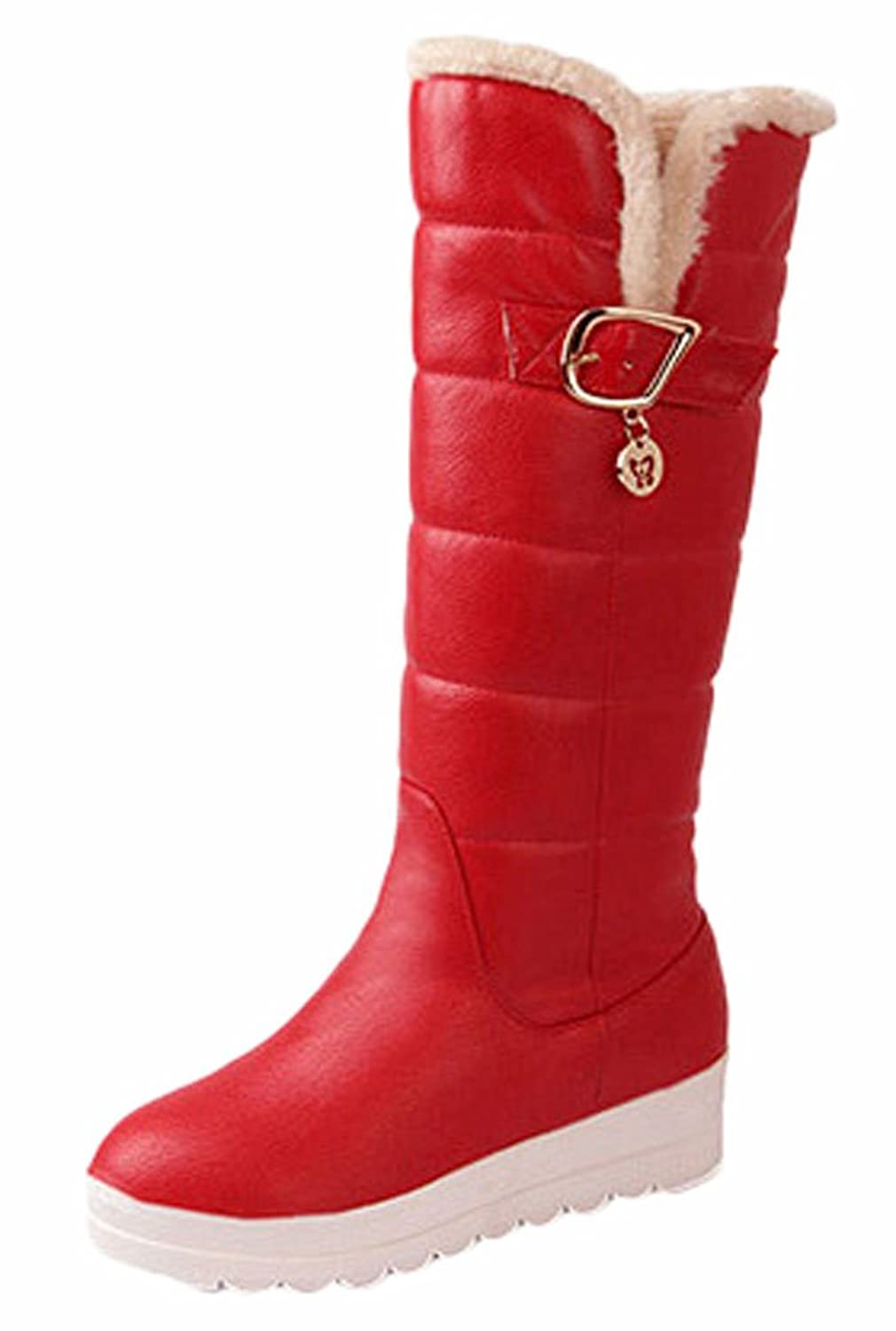 Ace Women's Winter Platform Knee-high Thermal Knight Boots with Fur Plus Size