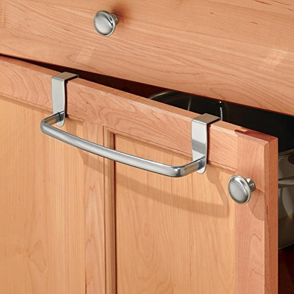 Kitchen Cabinet Towel Holder: Kitchen Dish Towel Holder Bar Over Cabinet Door Hanging