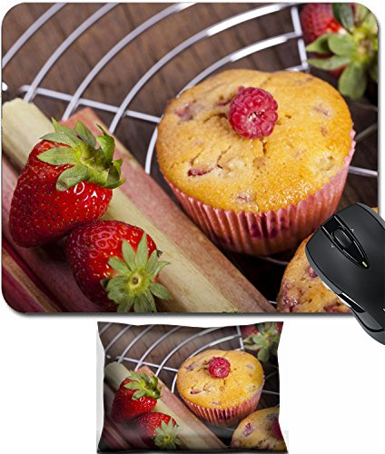 - MSD Mouse Wrist Rest and Small Mousepad Set, 2pc Wrist Support design 19569078 Some Strawberry Rhubarb and raspberry muffins and fresh fruit on cake wire rack