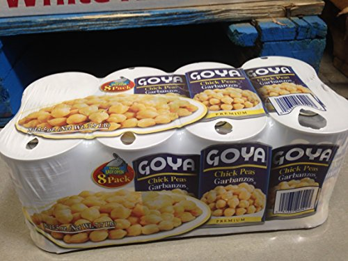 Goya chick peas garbanzos 8 pk. (pack of 6) by Goya