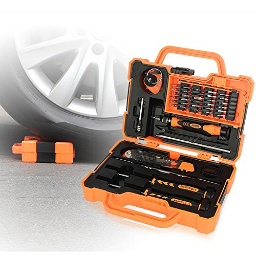 Professional Precision Screwdriver Set (45 in 1) and Cell Phone Repair Tool Kit for Mobile Smartphone, iPad, Computer, Laptop, Electronics (6pcs Octopus Microfiber Bonus) by Octopus Glue (Image #1)