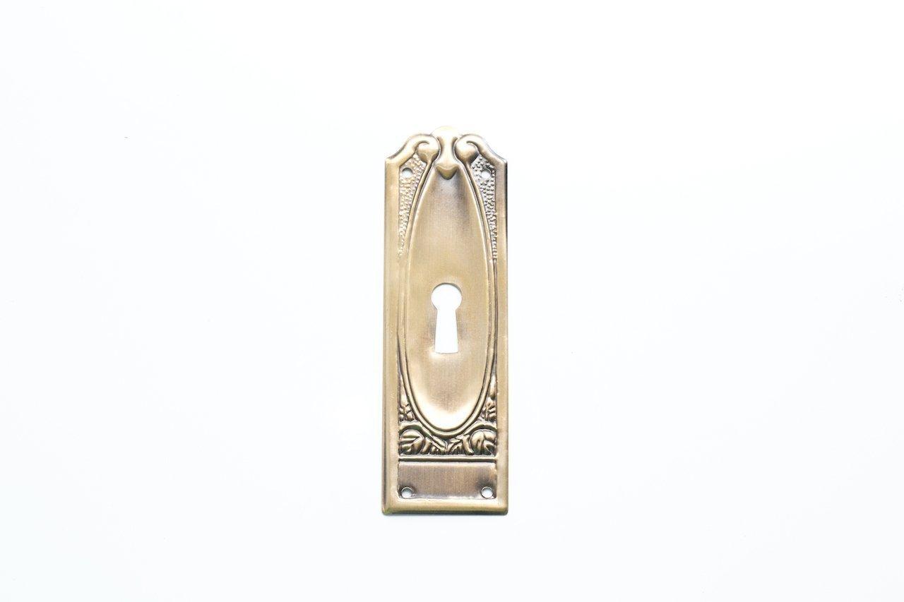 10 x Schlüsselschild Schlüsselschilder Möbelschild Messing antikmessing brüniert