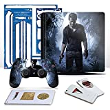 Controller Gear Uncharted 4 A Thief's End - PS4 Slim Vertical Console & Controller Skin Pack - PlayStation 4