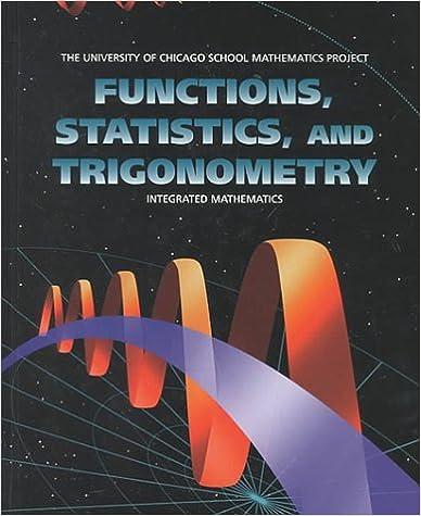Functions, Statistics, and Trigonometry (UCSMP - University of