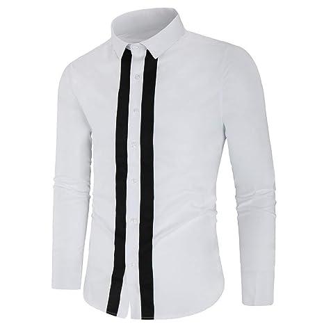 Camisa de manga larga para hombre Camisa de algodón a cuadros ...