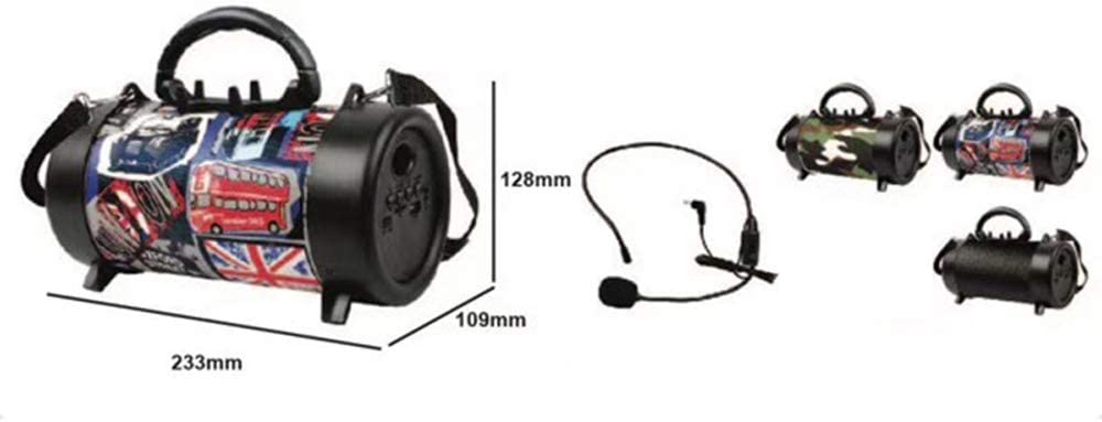 Portable BT Speaker Outdoor Wireless Bass Subwoofer Multifunctional Sound Box with Mic