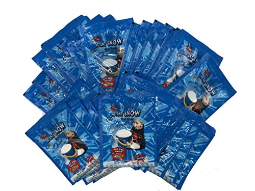 40 Individual Packagin Of Instant Snow For Kids Party Activity And Goody Bags