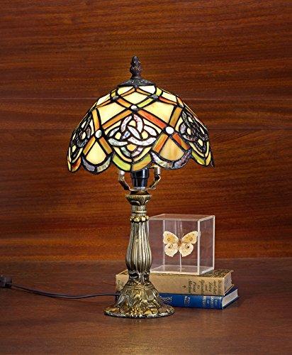 Tiffany Lamp & Gift Factory AD-17051 Tiffany Lamp Irish Celtic Lamp 8 Inch Tiffany-style Art Glass Desk Lamp Table Light (8) - Style Art Glass Table Lamp