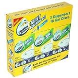 Scrubbing Bubbles Toilet Cleaning Gel, Citrus Scent (3 Dispensers & 18 Gel Discs)