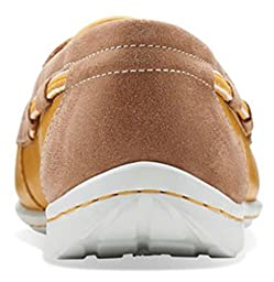 Clarks Womens Cliffrose Sail Boat Shoe Honey Leather Size 8
