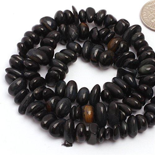 - JOE FOREMAN 6x8mm Blue Tiger Eye Semi Precious Gemstone Freeform Loose Beads for Jewelry Making DIY Handmade Craft Supplies 15