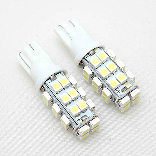 Toolso 10Pcs T10 W5W 12V 28SMD 1210 LED Car Bulbs Inverted Side Wedge Interior Ultra Bright White Light Bulb - Inverted Led Bulb