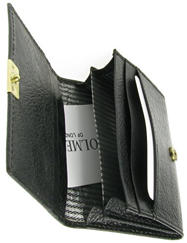 Full Card Credit Leather BL2 Grain of Holmes Wallet UK Mens Holder London Black New wZ8I6q