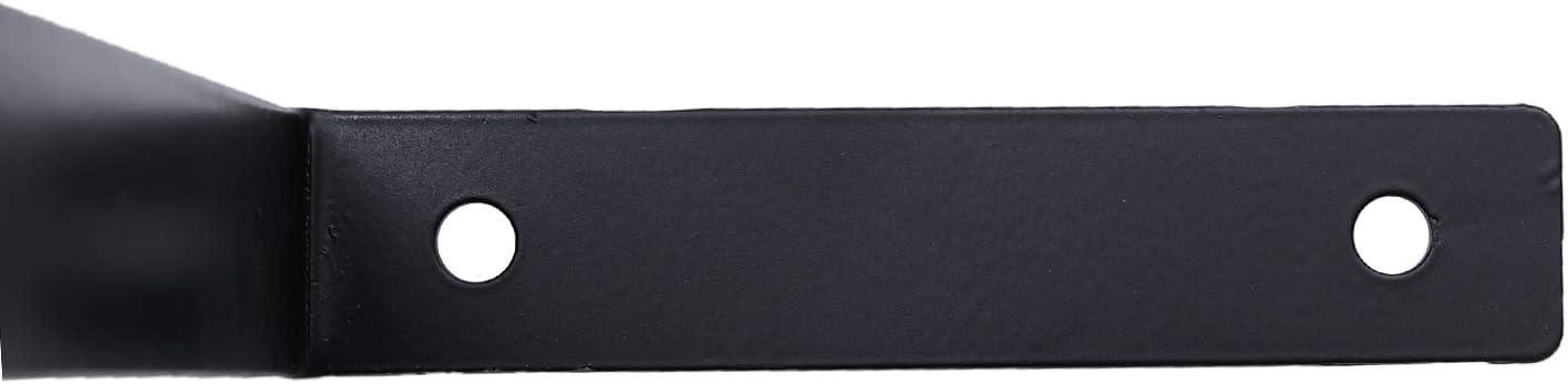 4 Piezas Soporte Estanteria 15cm Soporte Estanter/ías de Angulo 90 Grado de Hierro Resistente de 5 mm de Espesor Montaje Capacidad de Carga 100kg de Carga Pared//Negro