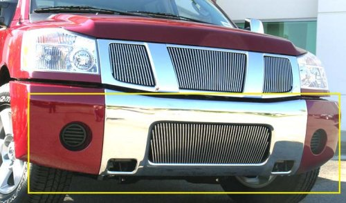 T-Rex 35780 49 Vertical Bar Polished Billet Aluminum Bumper Grille Insert