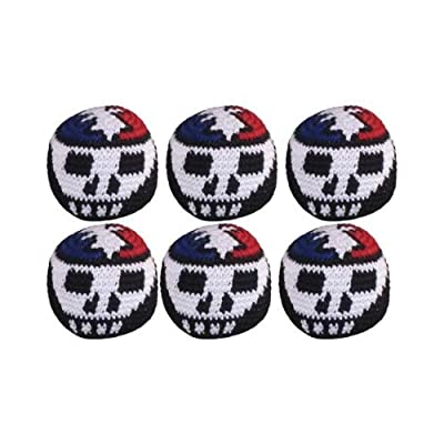 Turtle Island Imports Set of 6 Hacky Sacks - Skull & Lightning: Sports & Outdoors
