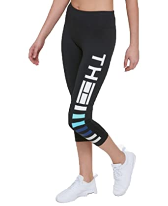 43d75d31378c9 Amazon.com: Tommy Hilfiger Sport Cropped Logo Leggings (Malibu Blue ...