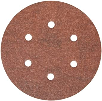 Norton A275 PSA Disc, Light Weight Paper Backing, Pressure Sensitive Adhesive, Aluminum Oxide, Waterproof, 6 Vaccum Holes