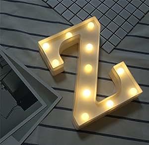 Amazon.com: Lucky Clover - Luces LED de letras de alfabeto ...