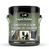 Liquid Rubber Foundation Sealant/Basement Coating - Indoor & Outdoor Use | Easy to Apply | Water Based | Black | 1 Gallon