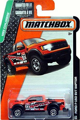 Matchbox 2015 MBX Explorers Ford F-150 SVT Raptor 118/120, Orange
