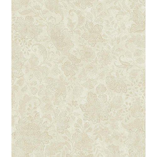 York Wallcoverings AR7774 Charleston Brushstroke Canvas Wallpaper, Cream/Grey/Beige