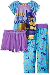 LEGO Batman Big Girls' Batgirl 3 Pc Pj at Gotham City Store