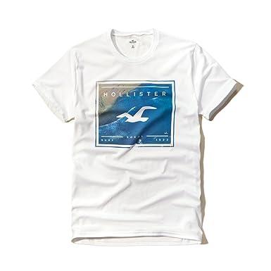 Hollister - Camiseta - para hombre Blanco blanco S: Amazon.es ...