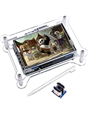 Kuman TFT touch screen, 3.5 pollici TFT LCD display monitor con supporto custodia Sie alle Lampone Pi SISTEMA VIDEO FILM, Giocare, Gioco Arcade, HDMI Audio Ingresso (3,5hdmi LCD + Alloggiamento) sc6ac